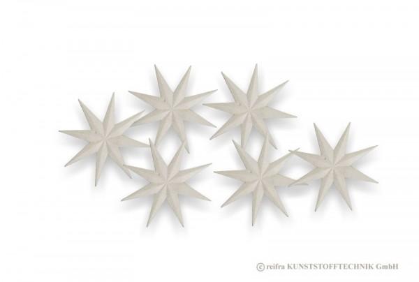 Stern 10,5 cm, 6 Stück zum Dekorieren
