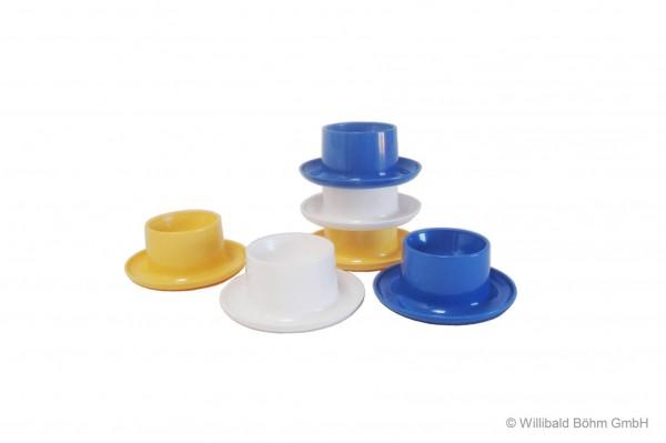 Eierbecher rund, 6-er Pack, farbig gemischt