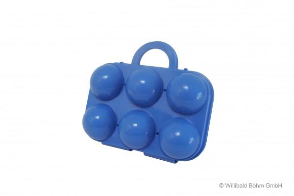 Eierträger 6-fach, pastell-blau