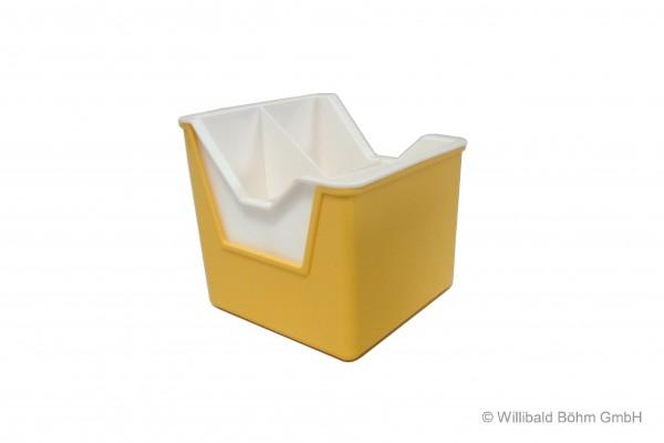 Bestecktrockner, 2-teilig, pastell-gelb