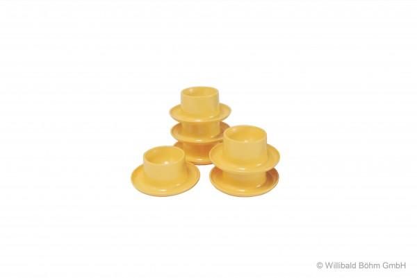 Eierbecher rund, 6-er Pack, pastell-gelb