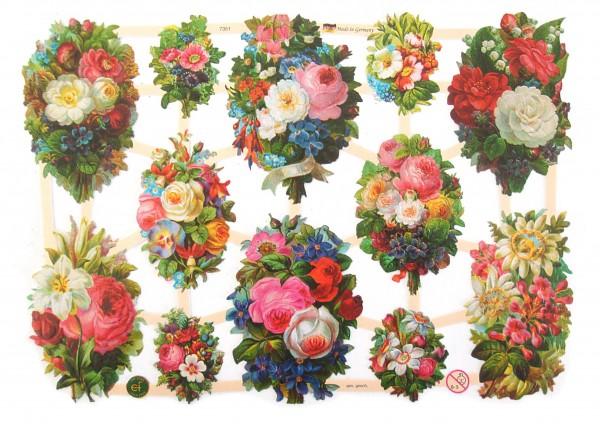 Glanzbilder, Blumensträuße