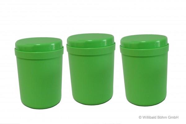 Mehrzweckdose 1,0 l, 3-er Pack, pastell-hellgrün