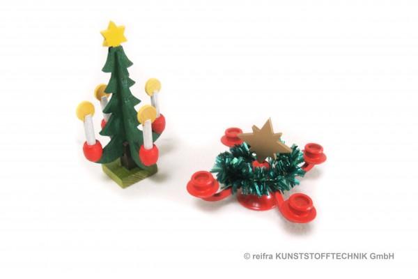 Adventsleuchter & Tannenbaum