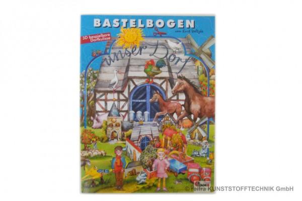 """Bastelbogen """"Dorf"""""""