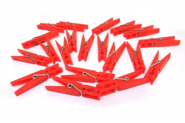 Wäscheklammer rot 70mm, 20 Stück