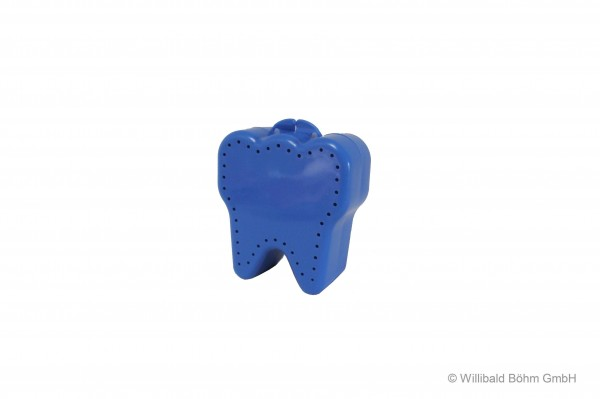 "Zahnspangendose ""Zahnform"", pastell-blau"