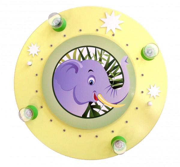 "Deckenleuchte Rondell ""Elefant"" lindgrün 4-20- Kin"