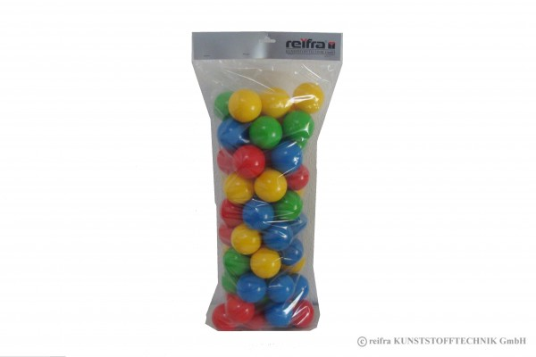 Sortiment Bälle, 60 Stück in 4 Farben