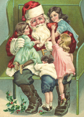 weihnachten nostalgische pr ge postkarten historische dekorationsartikel aus pappe. Black Bedroom Furniture Sets. Home Design Ideas