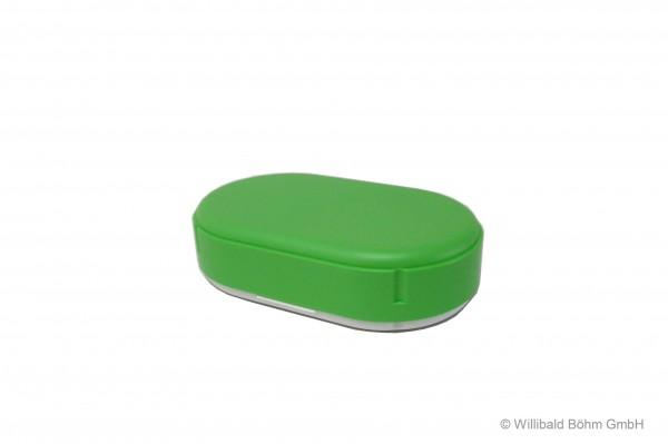 Brotdose, oval, pastell-hellgrün