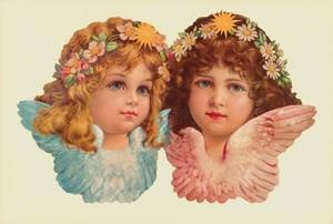 Aufstellschmuckkarte Doppel Angel