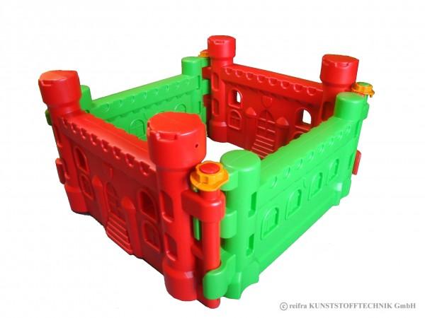 Spielburg, rot/grün