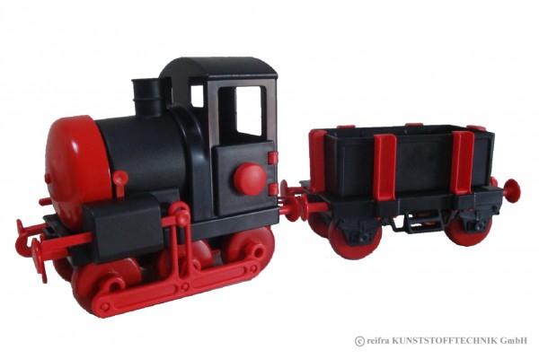 Kindereisenbahn schwarz /rot