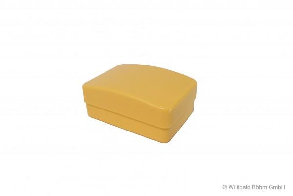 Seifendose, groß, mit Einsatz, pastell-gelb