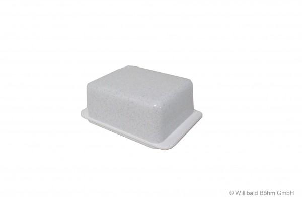 Butterdose, granit-weiß
