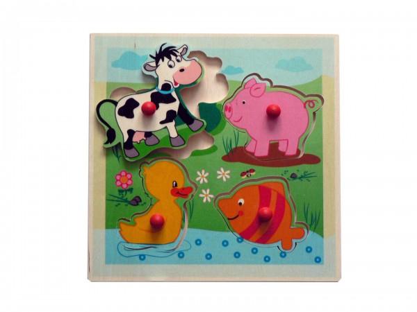 Puzzle Tiere 4teilig