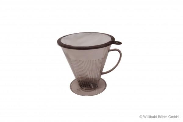 Keilfilter mit Filterbeutel, rauchglas 8-12 Tassen