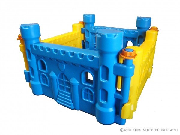 Spielburg, blau/gelb