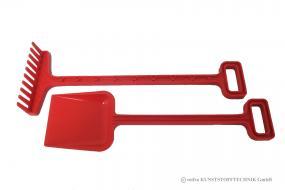 Gartengeräte Set Spaten + Rechen rot