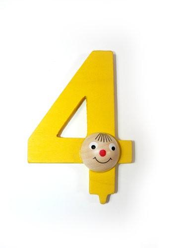 """Geburstagszahl  """"4"""""""