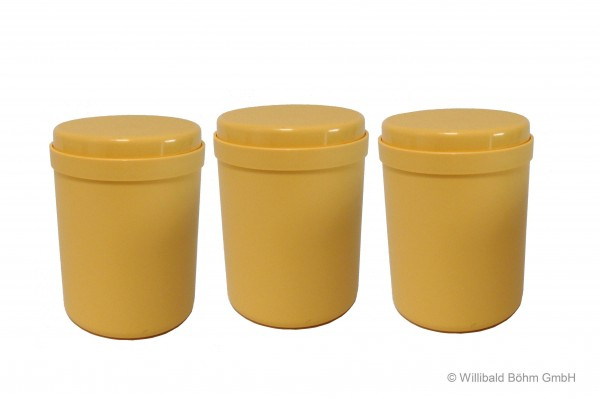 Mehrzweckdose 1,0 l, 3-er Pack, pastell-gelb