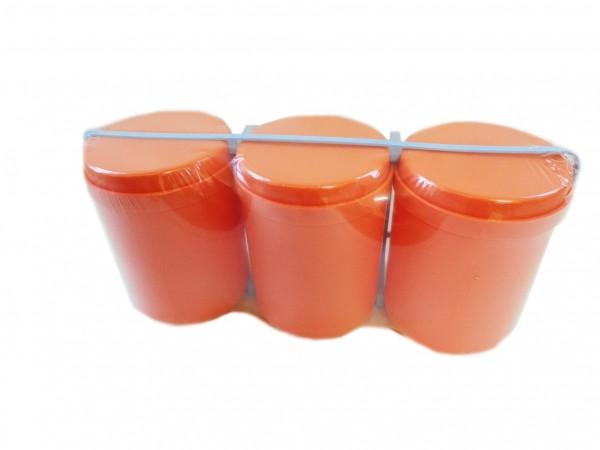 Mehrzweckdose 1,0 l, 3-er Pack, pastell-orange