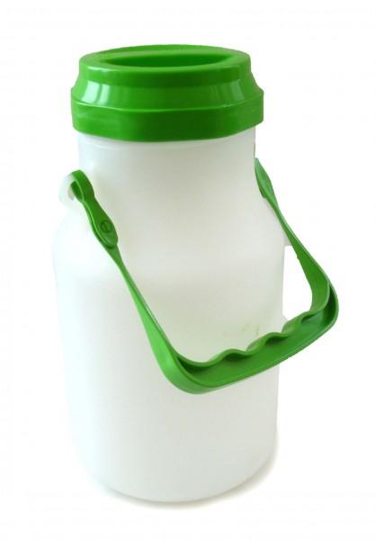Milchkanne mit Deckel, rund,  2 L