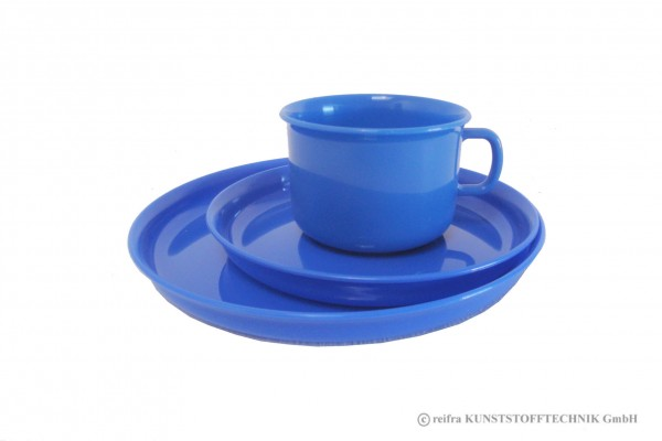 Gedeck 3-teilig, blau