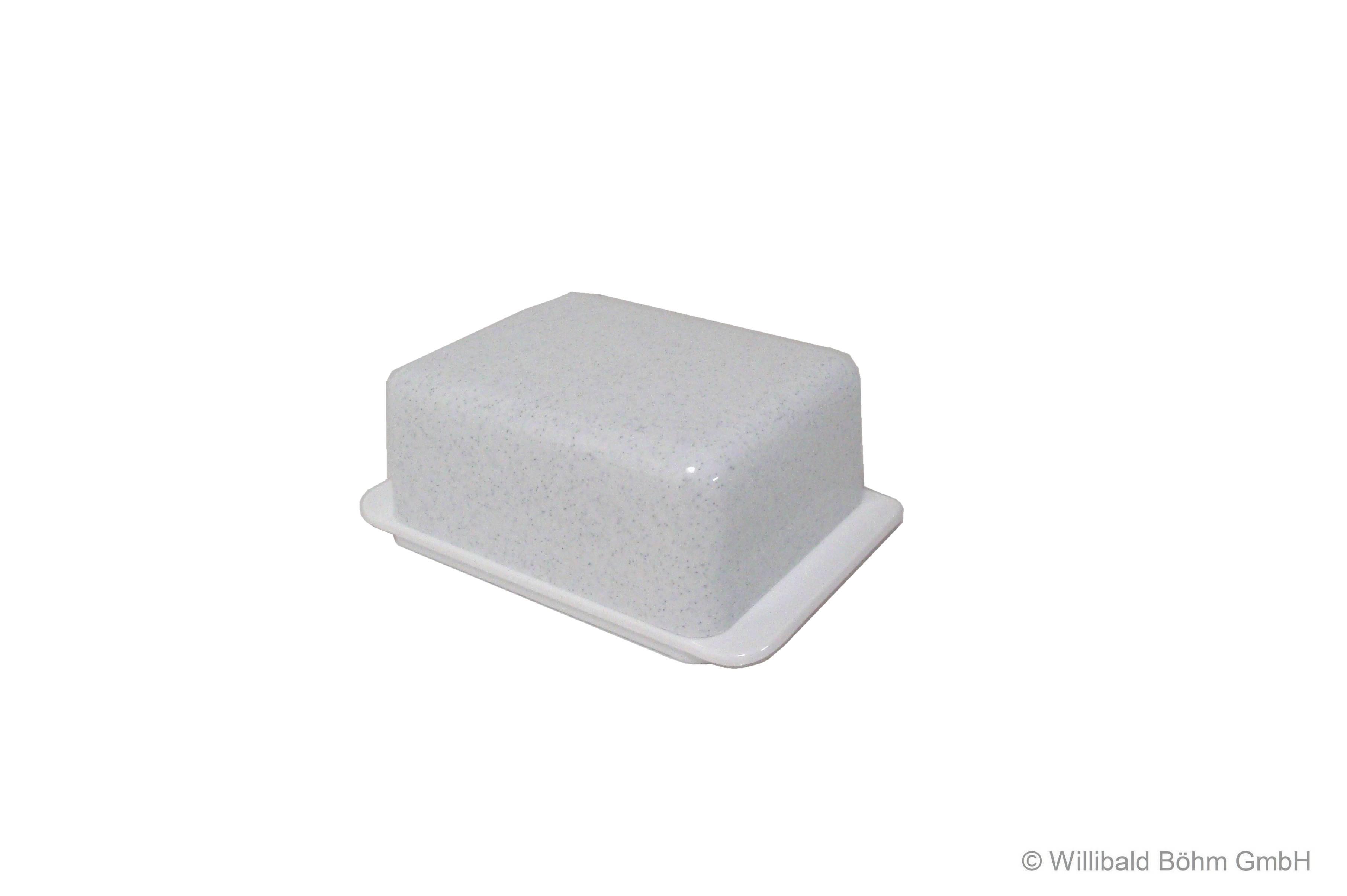 Butterdose granit weiß