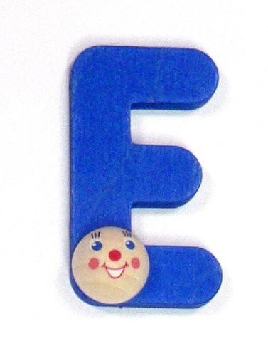 Holz-Buchstabe E mit Köpfchen
