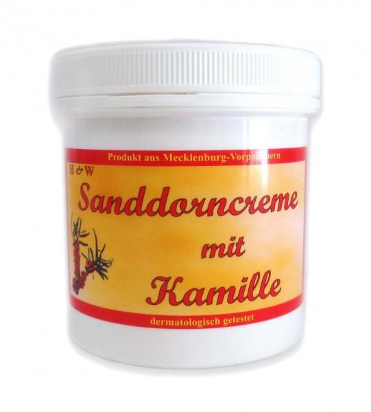 Sanddorncreme mit Kamille