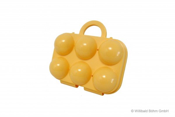 Eierträger 6-fach, pastell-gelb
