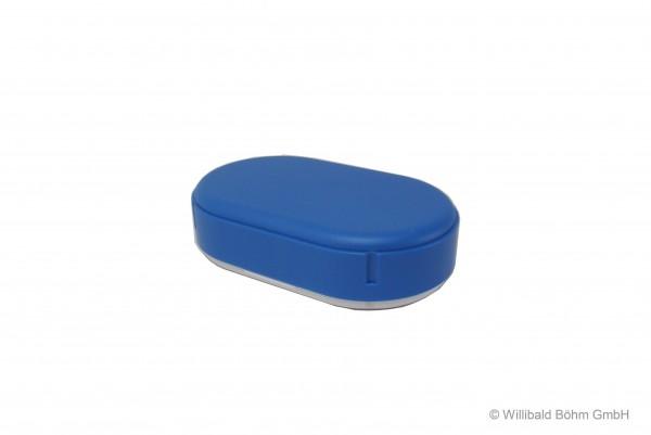 Brotdose, oval, pastell-blau