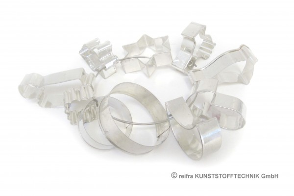 Lebkuchenausstechformen, Metall, 10-er Ring