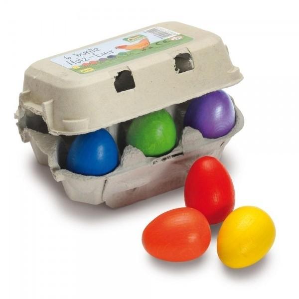 Eier, bunt im Karton - Kaufladen