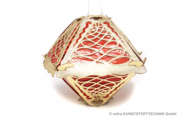 Klapplaterne 5-teilig gold, 28 x 22cm, roter Hinte