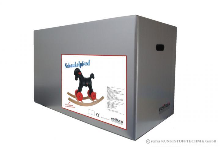 schaukelpferd schwarz kunstststoff pferd plastikpferd. Black Bedroom Furniture Sets. Home Design Ideas