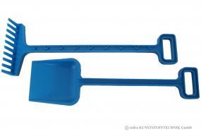 Gartengeräte Set Spaten + Rechen blau